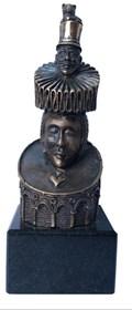 Rzeźba do salonu artysty Tomasz Sętowski pod tytułem  Dama Pik