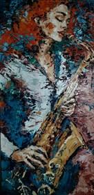 Obraz do salonu artysty Krystyna Róż-Pasek pod tytułem Ekscytacja