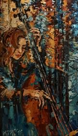 Obraz do salonu artysty Krystyna Róż-Pasek pod tytułem Esprit