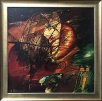 Obraz do salonu artysty Tomasz Sętowski pod tytułem Kompozycja