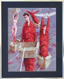 Obraz do salonu artysty Waldemar Marszałek pod tytułem Z CYKLU NARODZINY WENUS