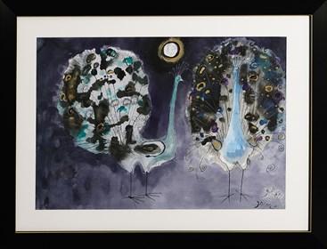 Obraz do salonu artysty Józef Wilkoń pod tytułem Pawie