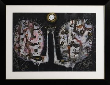 Obraz do salonu artysty Józef Wilkoń pod tytułem Pawie2