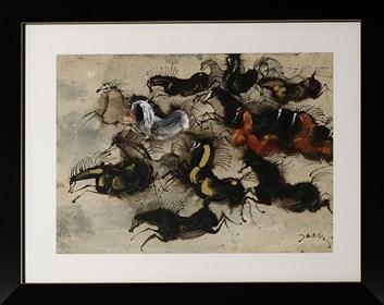 Obraz do salonu artysty Józef Wilkoń pod tytułem Konie2