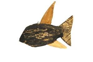 Rzeźba do salonu artysty Józef Wilkoń pod tytułem Ryba