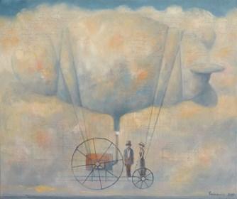 Obraz do salonu artysty Grzegorz Radziewicz pod tytułem Atlas chmur