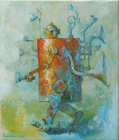 Obraz do salonu artysty Grzegorz Radziewicz pod tytułem Awangarda
