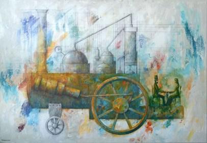 Obraz do salonu artysty Grzegorz Radziewicz pod tytułem Duch Puszczy