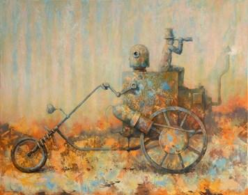 Obraz do salonu artysty Grzegorz Radziewicz pod tytułem Easy rider
