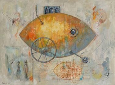 Obraz do salonu artysty Grzegorz Radziewicz pod tytułem Escape