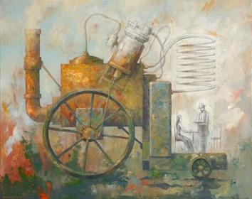 Obraz do salonu artysty Grzegorz Radziewicz pod tytułem Mobilna machina destylujaca