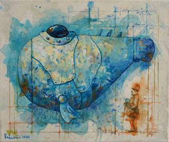 Obraz do salonu artysty Grzegorz Radziewicz pod tytułem Obrońca