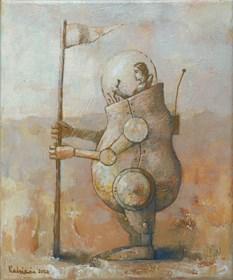Obraz do salonu artysty Grzegorz Radziewicz pod tytułem Odkrywca