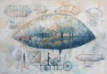 Obraz do salonu artysty Grzegorz Radziewicz pod tytułem Podniebny plan
