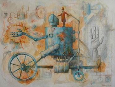 Obraz do salonu artysty Grzegorz Radziewicz pod tytułem Pomocna dłoń