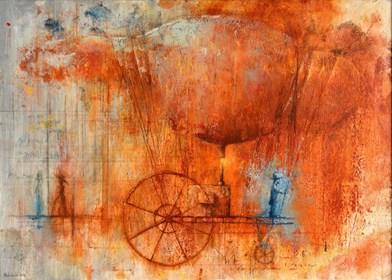 Obraz do salonu artysty Grzegorz Radziewicz pod tytułem Przeszłości