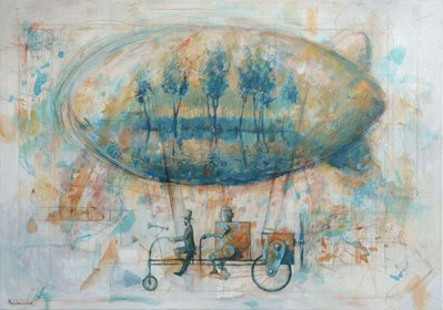 Obraz do salonu artysty Grzegorz Radziewicz pod tytułem Spokojna przystań