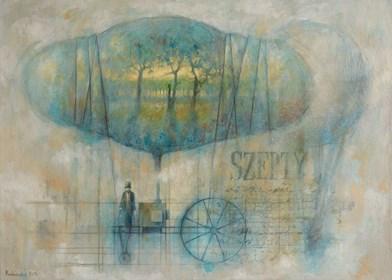 Obraz do salonu artysty Grzegorz Radziewicz pod tytułem Szepty
