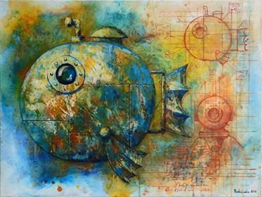 Obraz do salonu artysty Grzegorz Radziewicz pod tytułem Zdobywca