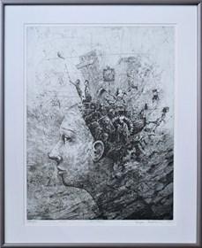 Grafika do salonu artysty Grzegorz Radziewicz pod tytułem Coexistence 15/50