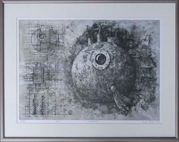 Grafika do salonu artysty Grzegorz Radziewicz pod tytułem Expedition 10/50