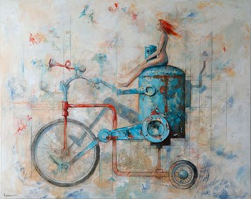 Obraz do salonu artysty Grzegorz Radziewicz pod tytułem Carpe Diem