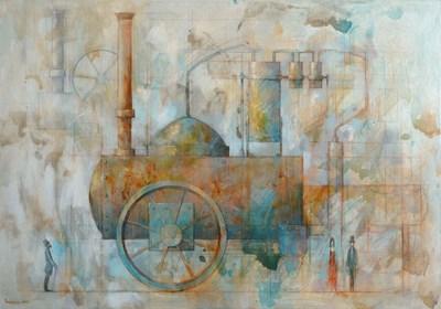Obraz do salonu artysty Grzegorz Radziewicz pod tytułem Mobilna machina destylująca