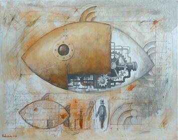 Obraz do salonu artysty Grzegorz Radziewicz pod tytułem Noe prototyp