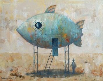 Obraz do salonu artysty Grzegorz Radziewicz pod tytułem Noe w oczekiwaniu