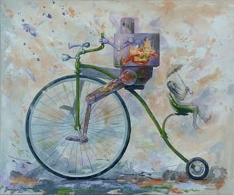 Obraz do salonu artysty Grzegorz Radziewicz pod tytułem Purple rain