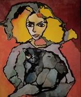 Obraz do salonu artysty Iwona Dombek Rybczyńska pod tytułem Wolf Africa