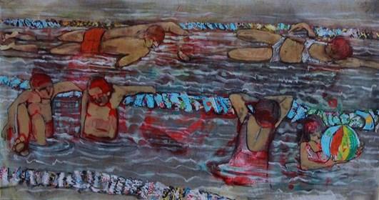 Obraz do salonu artysty Monika Ślósarczyk pod tytułem Basen