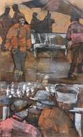 Living room painting by Monika Ślósarczyk titled Morocco 1