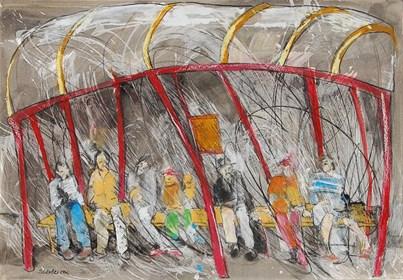 Obraz do salonu artysty Monika Ślósarczyk pod tytułem Przystanek