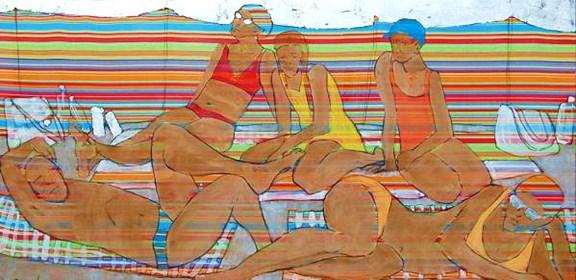 Obraz do salonu artysty Monika Ślósarczyk pod tytułem Parawan