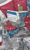 Living room painting by Monika Ślósarczyk titled Morocco 3