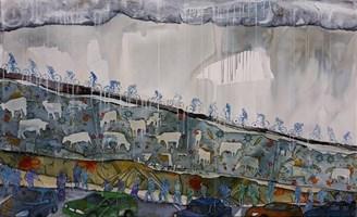Obraz do salonu artysty Monika Ślósarczyk pod tytułem Pejzaż Wisla