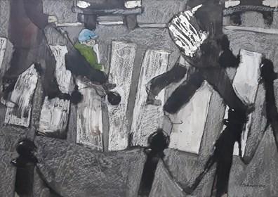 Obraz do salonu artysty Monika Ślósarczyk pod tytułem Przejscie dla pieszych