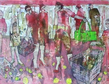 Obraz do salonu artysty Monika Ślósarczyk pod tytułem Cytryny