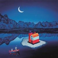 Obraz do salonu artysty Paulina Zalewska pod tytułem Wyspa tajemnic