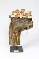 Rzeźba do salonu artysty Anna Luteracka pod tytułem Drabiny szczęścia - zakręcony świat