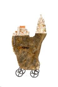 Rzeźba do salonu artysty Anna Luteracka pod tytułem Trzy światy