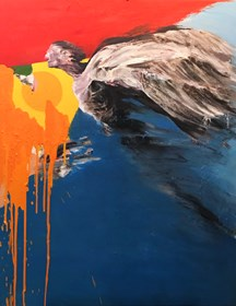 Obraz do salonu artysty Tomasz Tobolewski pod tytułem Próbny lot
