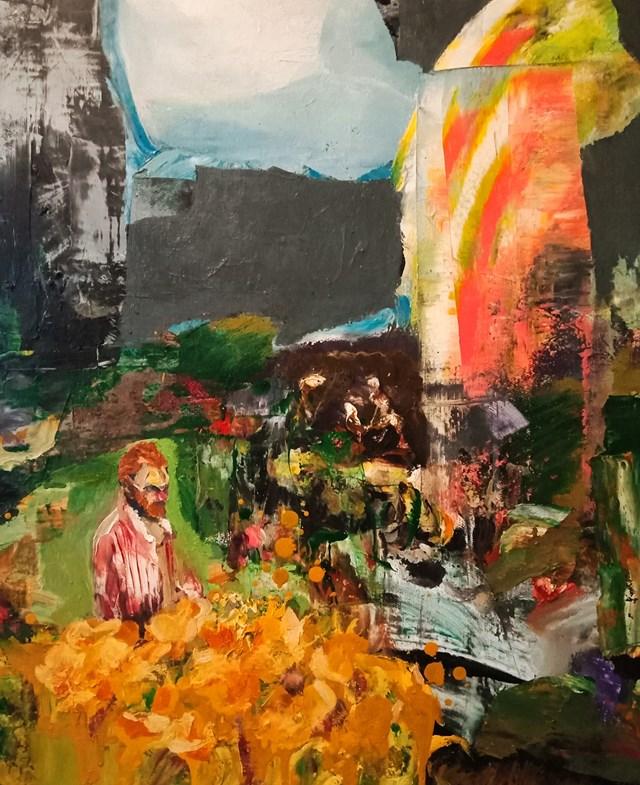 Obraz do salonu artysty Tomasz Tobolewski pod tytułem Tournesols