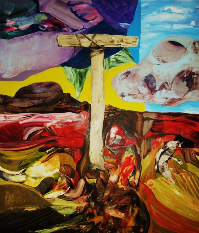 Obraz do salonu artysty Tomasz Tobolewski pod tytułem In memoriam Vladimir Velickovic