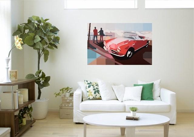 Czerwona Alfa Romeo - wizualizacja pracy autora Jakub Napieraj