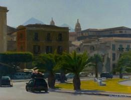 Obraz do salonu artysty Michał Janicki pod tytułem Via Cala, Palermo