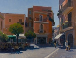 Living room painting by Michał Janicki titled Taormina, Sicilia