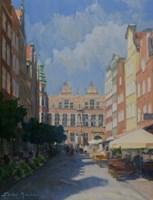 Obraz do salonu artysty Michał Janicki pod tytułem ul. Piwna, Gdańsk