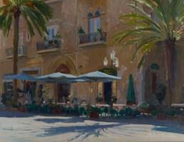 Obraz do salonu artysty Michał Janicki pod tytułem Piazza del Duomo, Cefalu